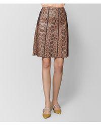 Bottega Veneta - Dahlia Anaconda Skirt - Lyst