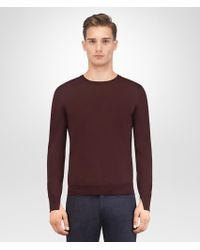 Bottega Veneta - Dark Barolo Merino Sweater - Lyst