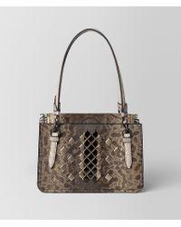 Bottega Veneta - Mist Mosaic Studs Reale Bag - Lyst