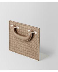 Bottega Veneta - Ash Intrecciato Vn Vintage Leather Bookend - Lyst
