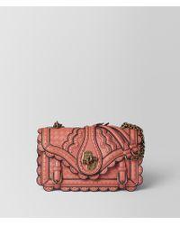 Bottega Veneta - Hibiscus Intrecciato Wingtip City Knot Bag - Lyst