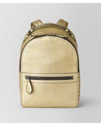Bottega Veneta Backpack In Metallic Lamb
