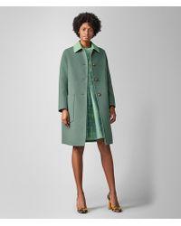 Bottega Veneta Coat In Cashmere - Green