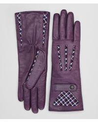 Bottega Veneta - Grape Lamb Gloves - Lyst