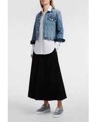 Elizabeth and James - Glendon Ponte Skirt, Size Us10, Women, Black - Lyst