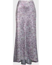 Paco Rabanne Floral-print Lurex Maxi Skirt - Multicolour