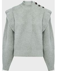 Isabel Marant Peggy Cashmere-wool Sweater - Gray