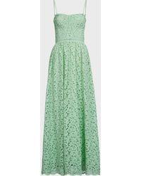 Jonathan Simkhai Genevieve Strapless Lace Gown - Green