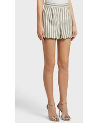 Paul & Joe - Cokillage Scallop Hem Cotton-blend Shorts - Lyst