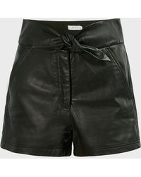 A.L.C. Kerry High-waist Leather Shorts - Black