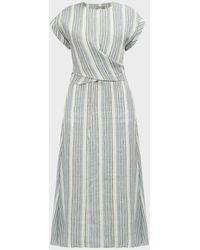 Three Graces London Tilde Striped Cut-out Maxi Dress - Multicolour