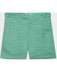 Frescobol Carioca Copacabana Tailored Swim Shorts - Green