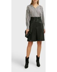 Isabel Marant Gladys Leather Midi Skirt - Black