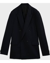 The Row Colin Double-breasted Wool Blazer - Black