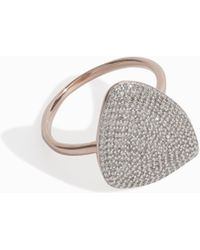 Monica Vinader Nura Diamond Teardrop Ring - Multicolour