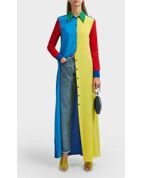 Adam Selman - Colour Block Shirt Dress - Lyst