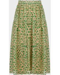 Paul & Joe Basilic Printed Jacquard Skirt - Green