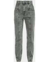 Étoile Isabel Marant Henoya Acid-wash High-rise Jeans - Gray