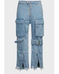 Marques'Almeida Multi-pocket Cropped Jeans - Blue