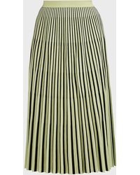 Proenza Schouler Striped Knit Jacquard Skirt - Green
