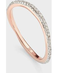 Monica Vinader Riva Wave Eternity Diamond Ring - Multicolor