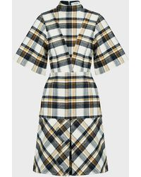 Victoria Beckham Checked Paneled Mini Dress - Multicolor