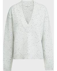 Tibi Ribbed V-neck Wool-blend Jumper - Multicolour