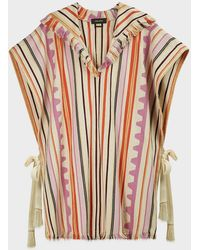 Isabel Marant Pilen Striped Hooded Poncho - Multicolour