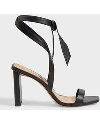 Alexandre Birman Katie 50 Tie-up Leather Sandals - Black
