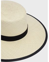Janessa Leone - Willow Boater Hat - Lyst