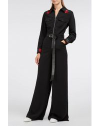 Adam Selman - Embroidered Cady Jumpsuit - Lyst