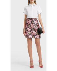 Victoria, Victoria Beckham | Printed Mini Skirt | Lyst