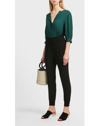 Theory - Relaxed Fit Silk Top - Lyst