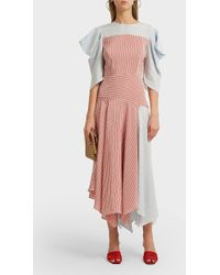 Anna October - Asymmetric Striped Poplin Maxi Dress - Lyst