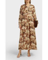 Nanushka Hazel Printed Cotton Maxi Dress - Multicolor