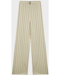 Alexis Dixon Stripe Wide-leg Trousers - Natural