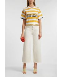 Alberta Ferretti Yellow Cotton T-shirt