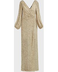 Jenny Packham Ida Cold-shoulder Sequined Gown - Multicolour