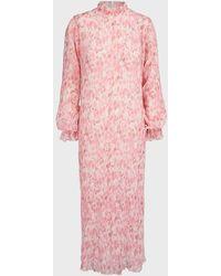 Stella Nova Annafa Ruffled Crepe-jacquard Shirt - Pink