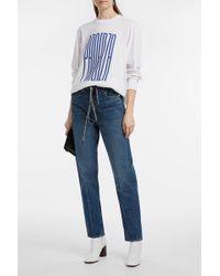 Proenza Schouler | Pswl Printed Cotton-jersey T-shirt | Lyst