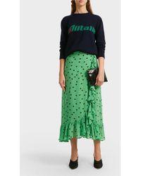 Alberta Ferretti Alitalia Intarsia Merino Wool Sweater - Multicolor