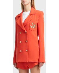Macgraw - Loyal Gold Button Blazer, Size Us8, Women, Red - Lyst