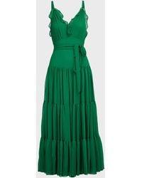 Alexis Tasha Ruffled Chiffon Maxi Dress - Green