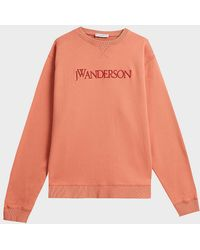 JW Anderson - Embroidered Cotton Sweatshirt - Lyst