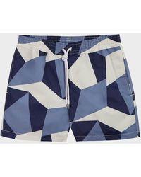 Frescobol Carioca Ca Modernist Swimming Trunks - Blue