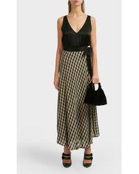 Forte Forte Checkered Flare Wrap Skirt - Multicolour
