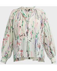 Isabel Marant Amba Printed Silk-blend Blouse - Multicolor