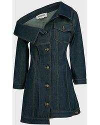 Monse Asymmetric Denim Jacket Dress - Blue