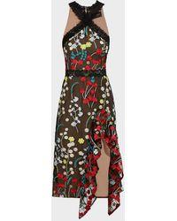 Bronx and Banco Ivana Ruffle Maxi Dress - Multicolor