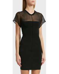 Alexander Wang - Voile And Stretch-jersey Dress - Lyst